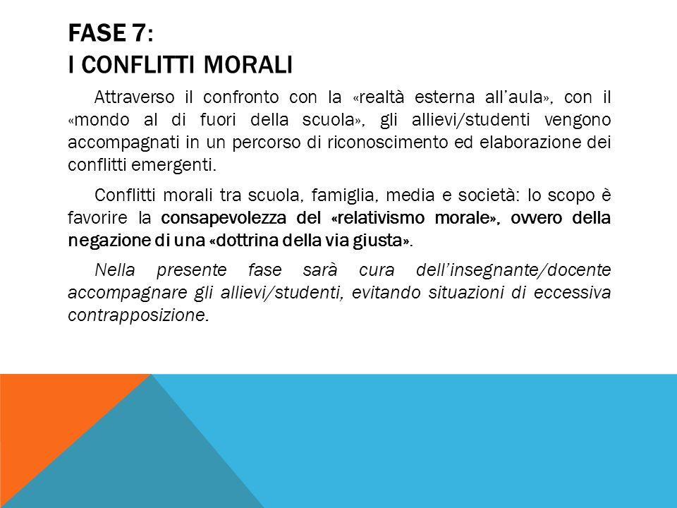 FASE 7: I CONFLITTI MORALI