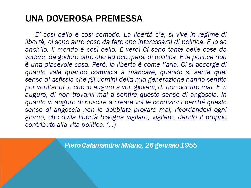 Piero Calamandrei Milano, 26 gennaio 1955