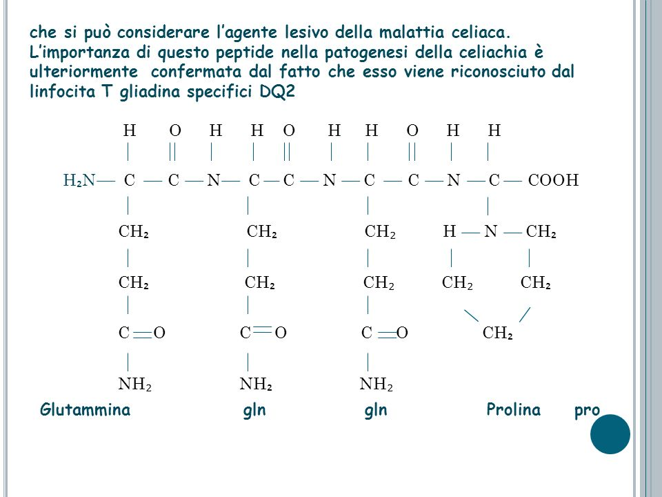 che si può considerare l'agente lesivo della malattia celiaca