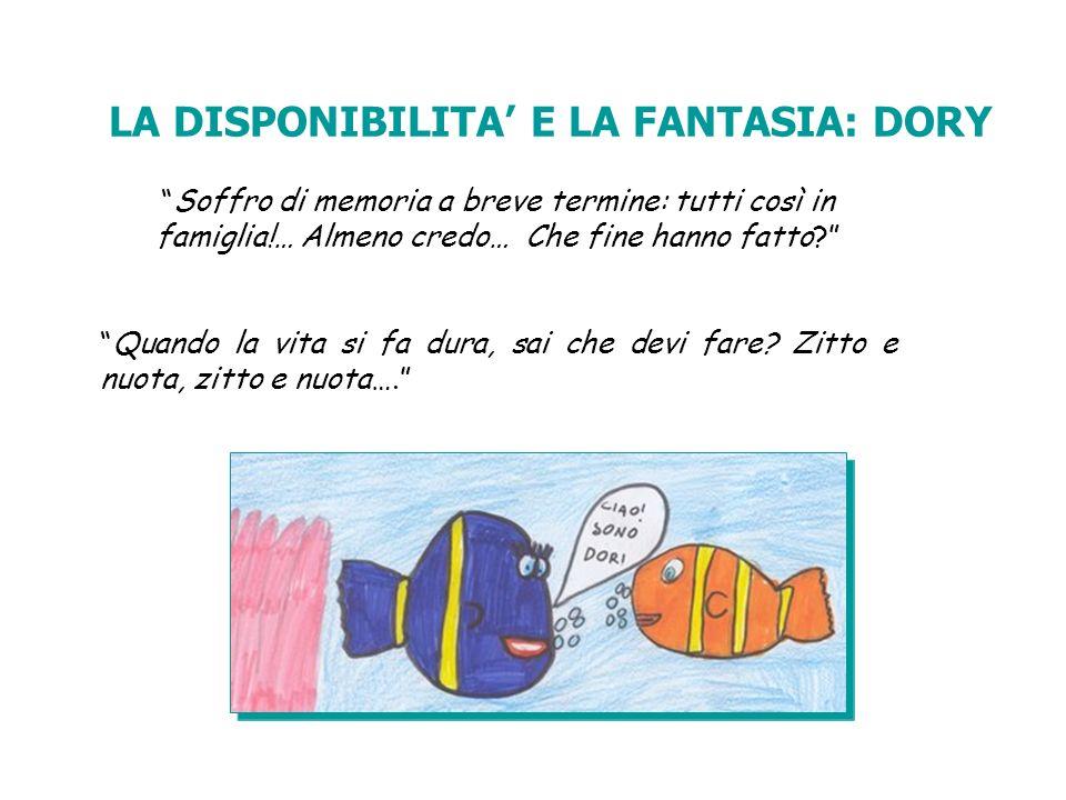 LA DISPONIBILITA' E LA FANTASIA: DORY