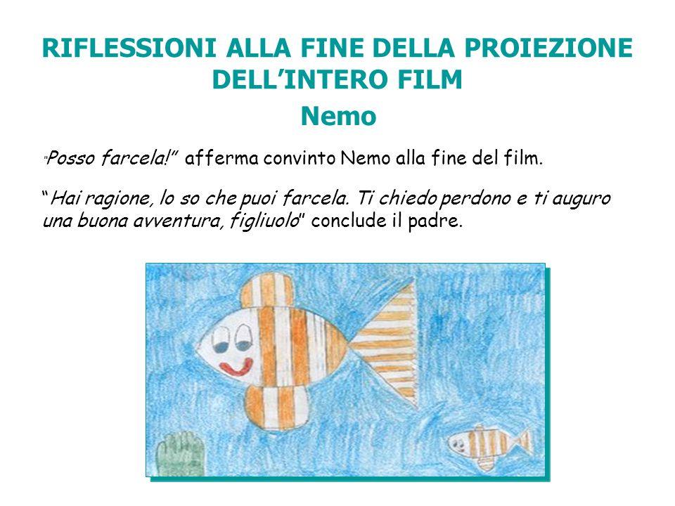 RIFLESSIONI ALLA FINE DELLA PROIEZIONE DELL'INTERO FILM