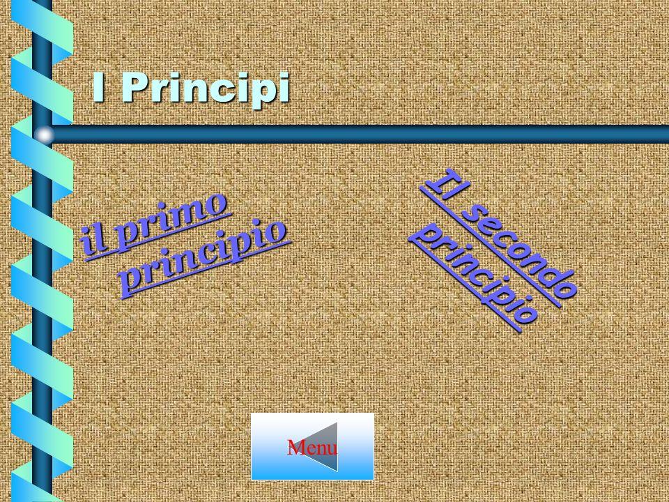 I Principi il primo principio Il secondo principio Menu