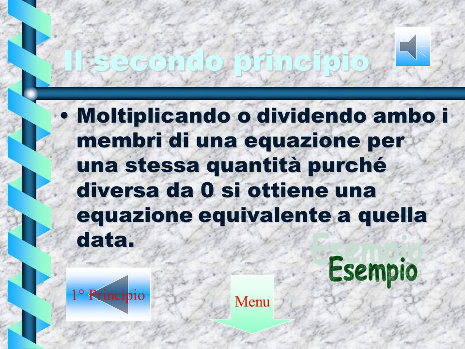 Il secondo principio Esempio