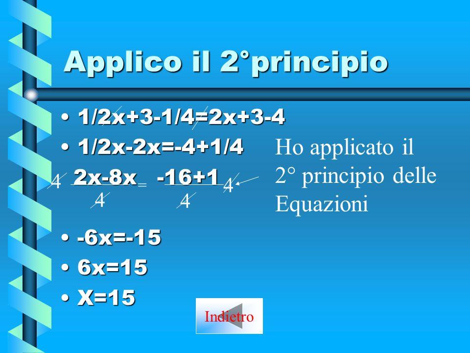 Applico il 2°principio Ho applicato il 2° principio delle Equazioni