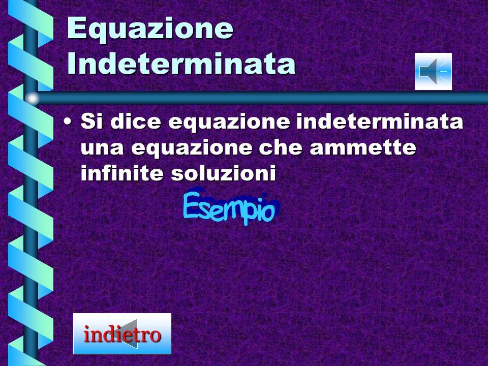 Equazione Indeterminata