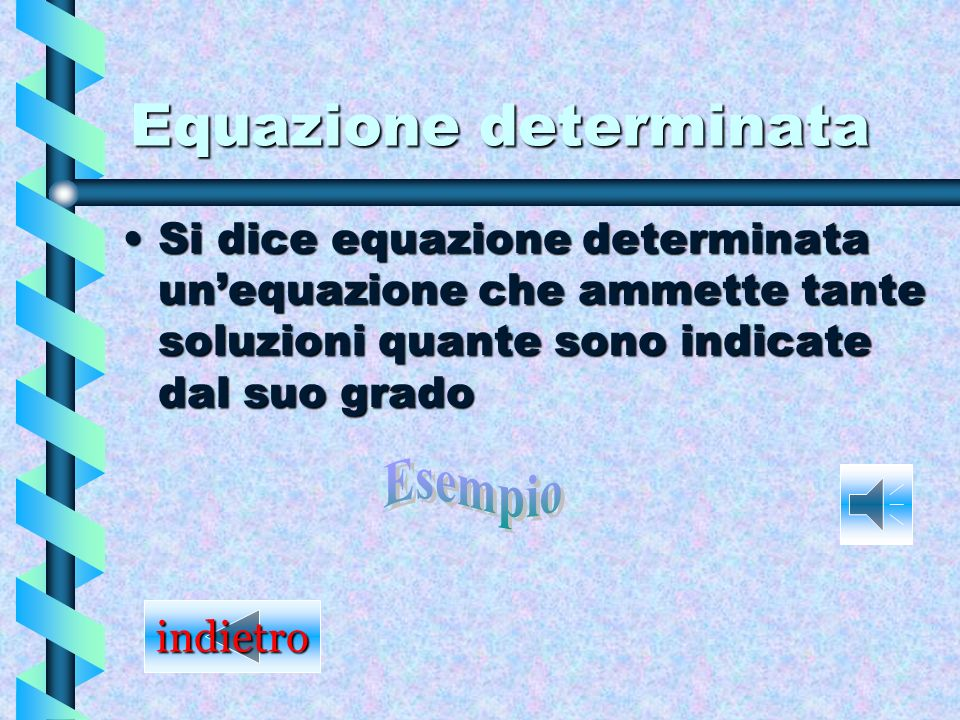 Equazione determinata