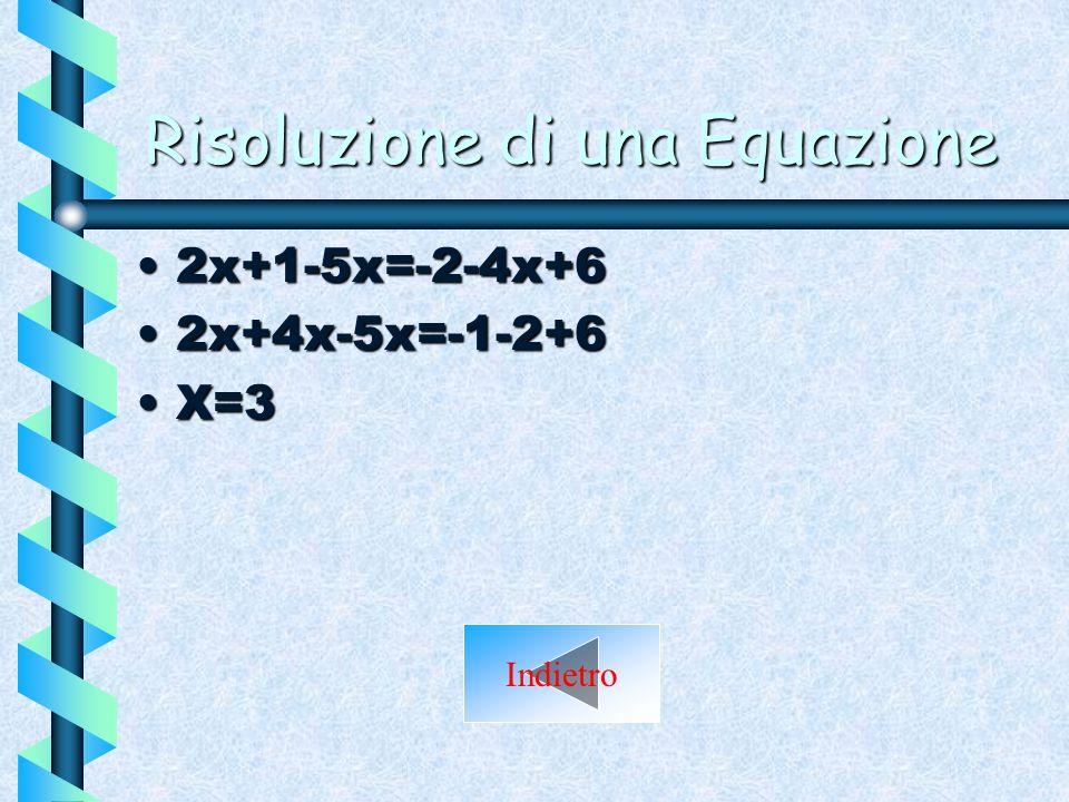 Risoluzione di una Equazione