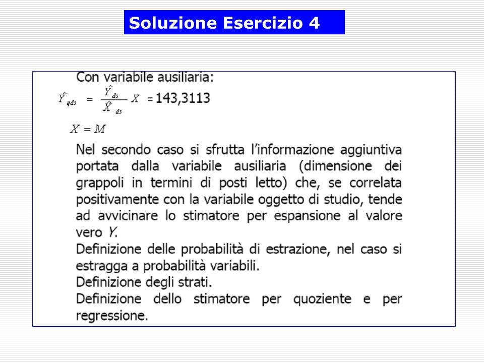 Soluzione Esercizio 4