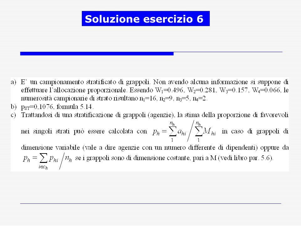 Soluzione esercizio 6