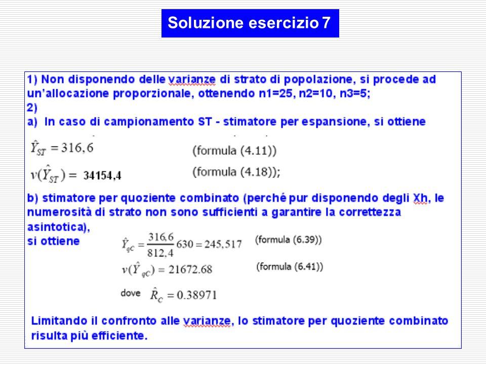 Soluzione esercizio 7