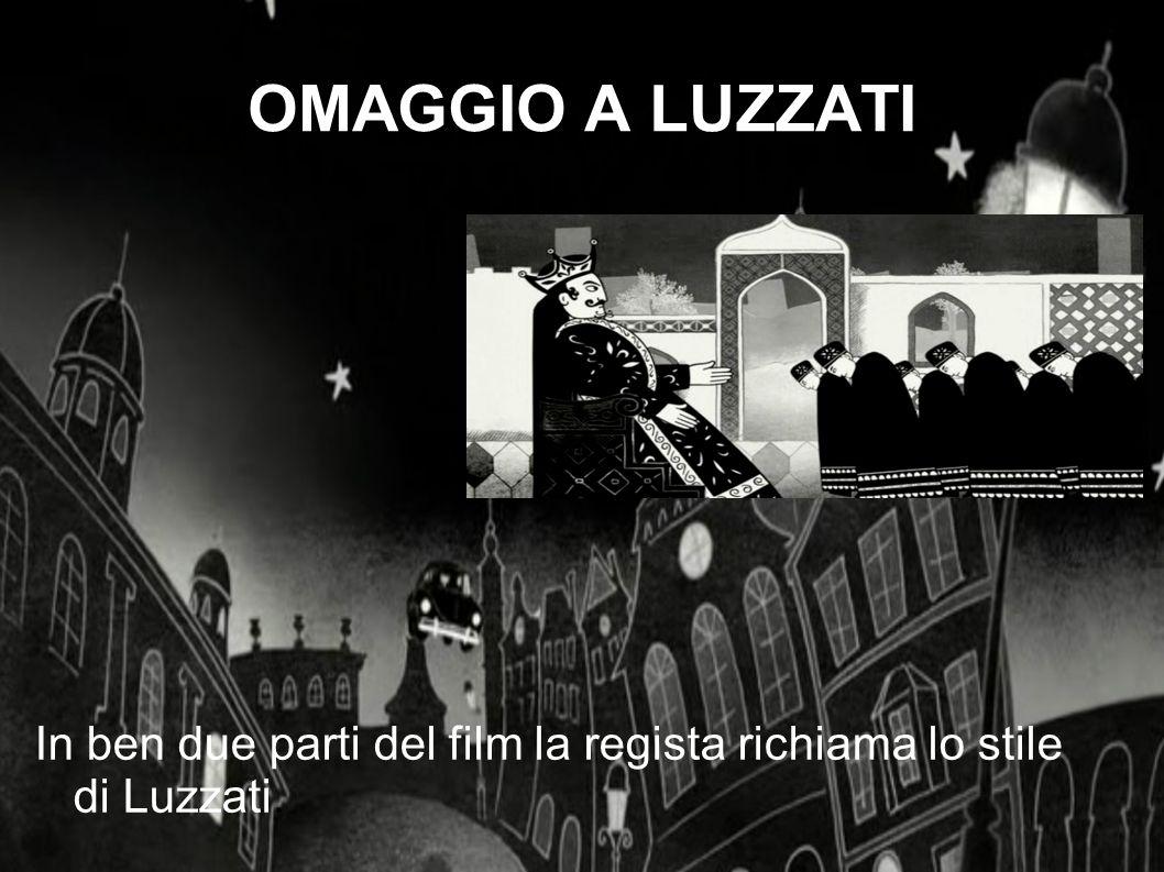 In ben due parti del film la regista richiama lo stile di Luzzati.