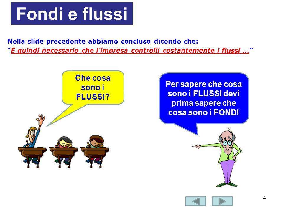 Fondi e flussi Che cosa sono i FLUSSI