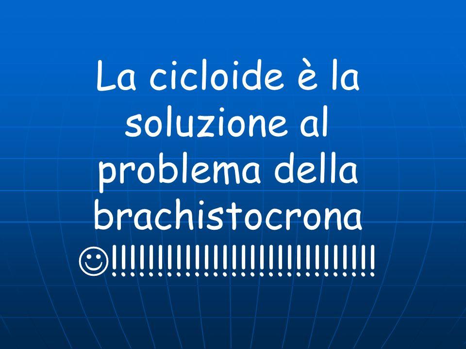 La cicloide è la soluzione al problema della brachistocrona !!!!!!!!!!!!!!!!!!!!!!!!!!!!!
