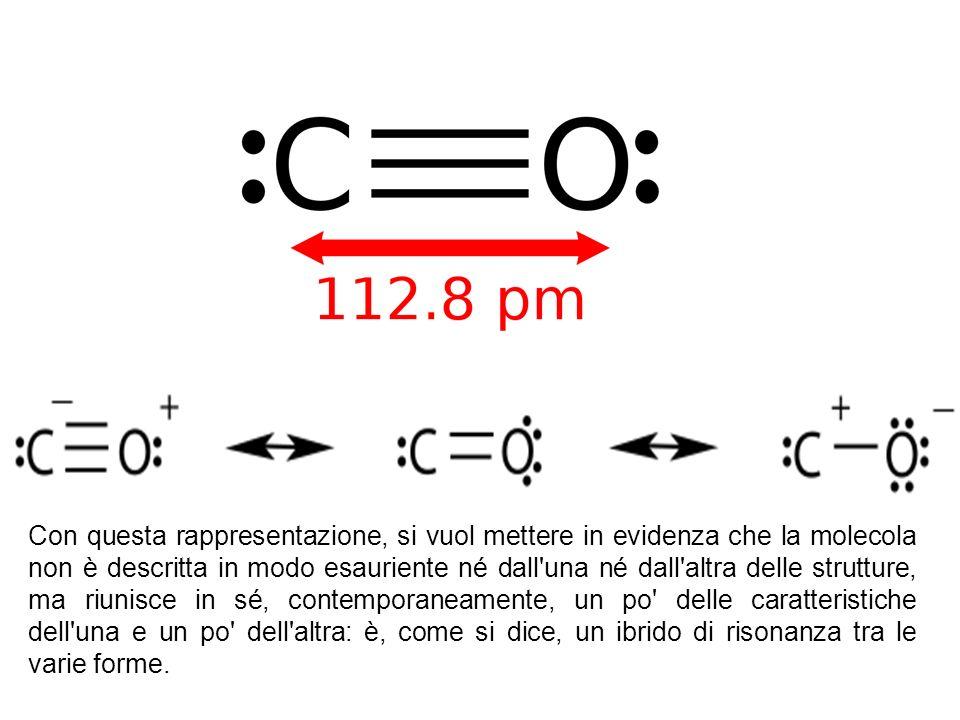 Con questa rappresentazione, si vuol mettere in evidenza che la molecola non è descritta in modo esauriente né dall una né dall altra delle strutture, ma riunisce in sé, contemporaneamente, un po delle caratteristiche dell una e un po dell altra: è, come si dice, un ibrido di risonanza tra le varie forme.