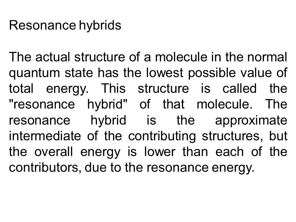 Resonance hybrids