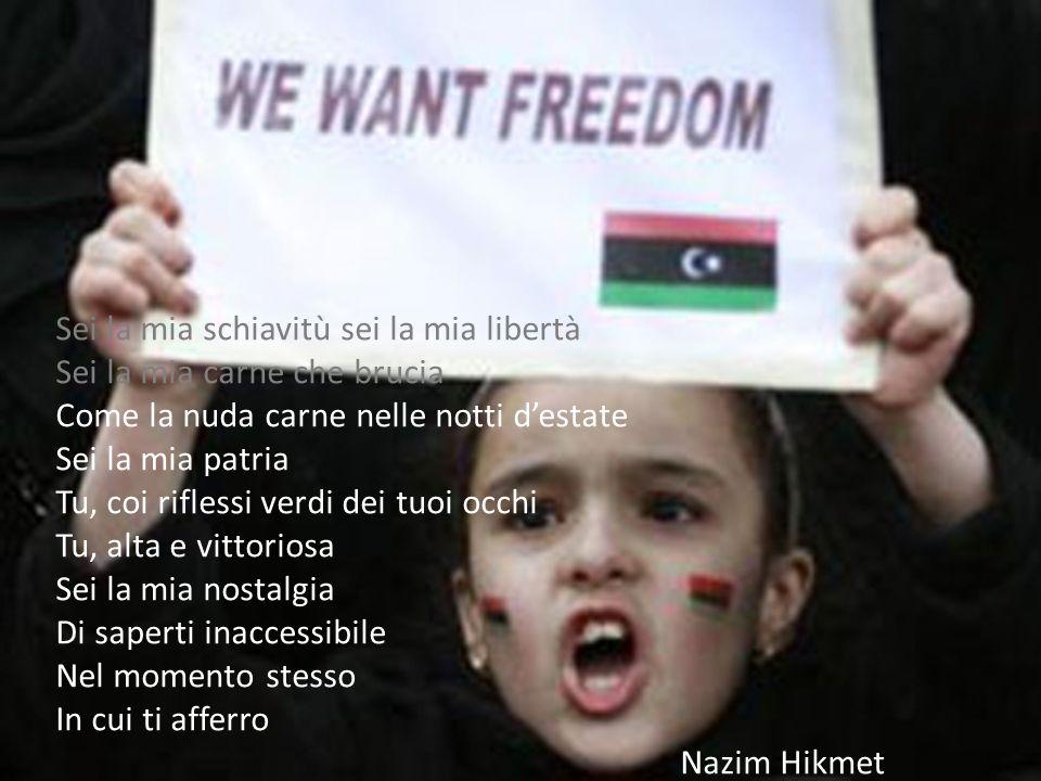 Sei la mia schiavitù sei la mia libertà Sei la mia carne che brucia