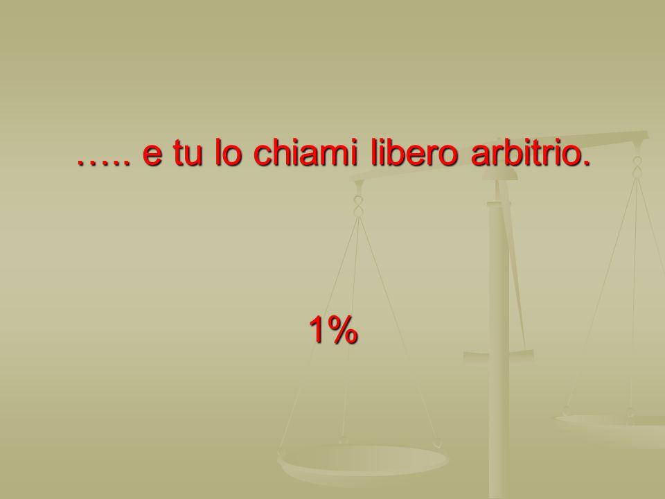 ….. e tu lo chiami libero arbitrio. 1%