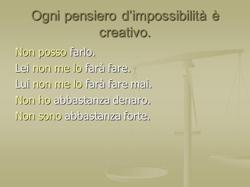Ogni pensiero d'impossibilità è creativo.