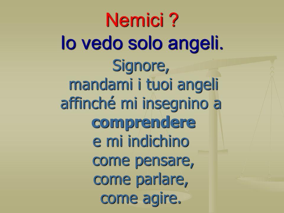 Nemici Io vedo solo angeli.