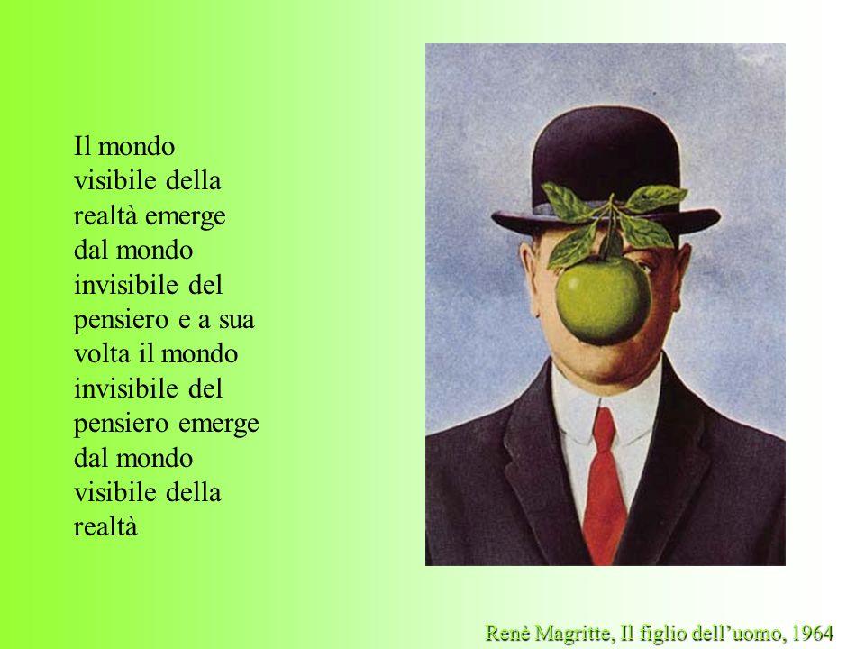 Il mondo visibile della realtà emerge dal mondo invisibile del pensiero e a sua volta il mondo invisibile del pensiero emerge dal mondo visibile della realtà