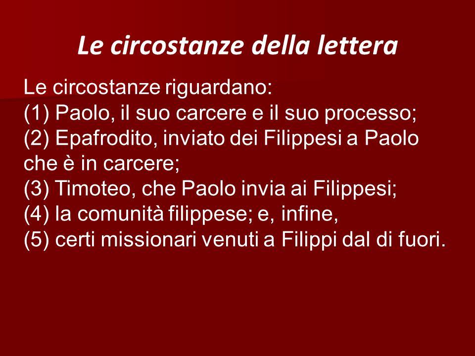 Le circostanze della lettera