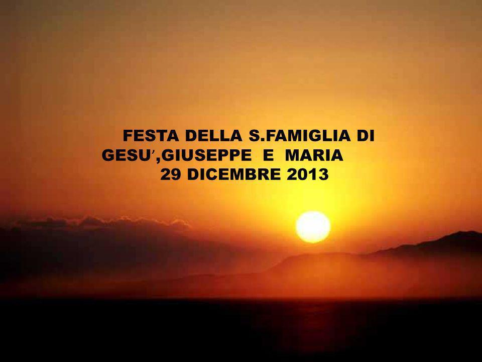 FESTA DELLA S.FAMIGLIA DI