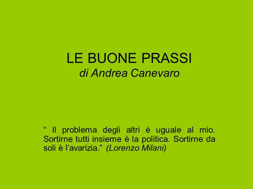 LE BUONE PRASSI di Andrea Canevaro