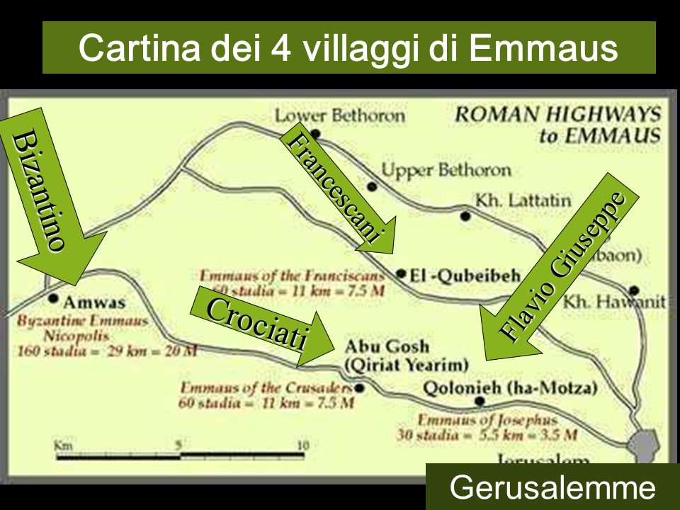 Cartina dei 4 villaggi di Emmaus