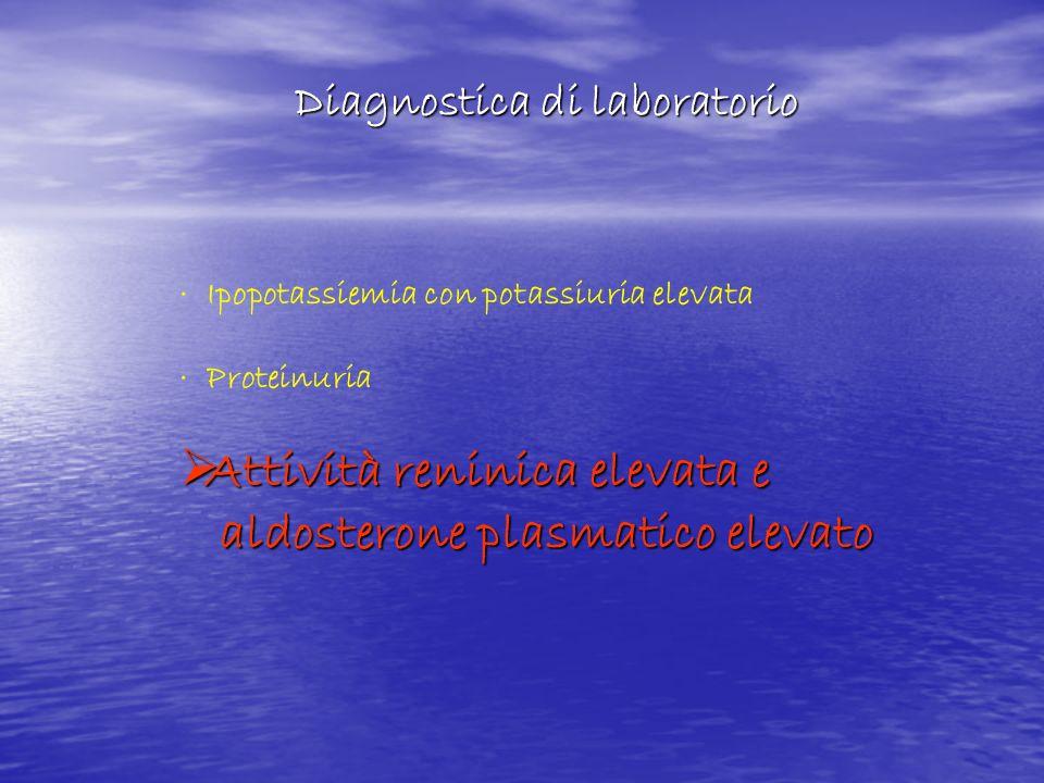 Attività reninica elevata e aldosterone plasmatico elevato
