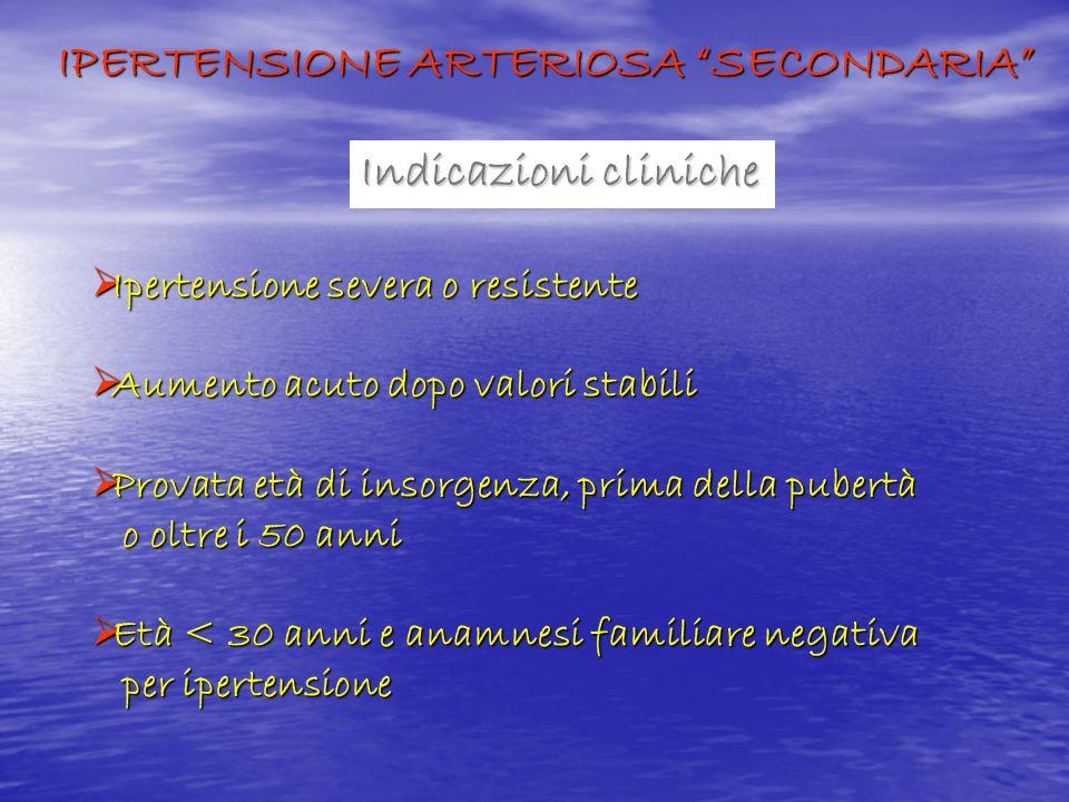IPERTENSIONE ARTERIOSA SECONDARIA