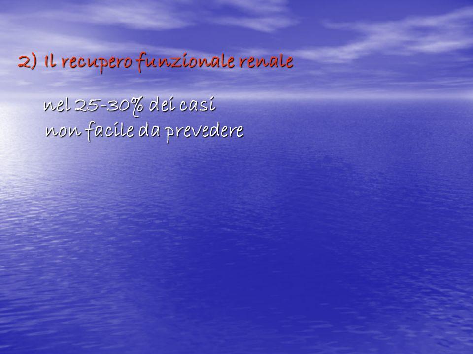 2) Il recupero funzionale renale