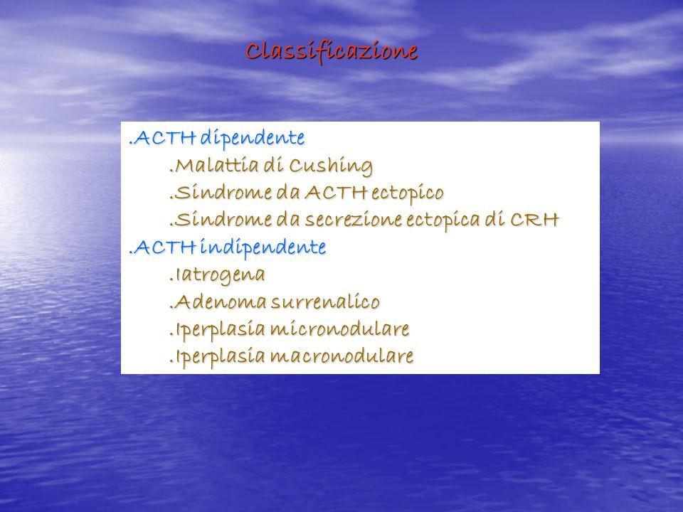 Classificazione .ACTH dipendente .Malattia di Cushing