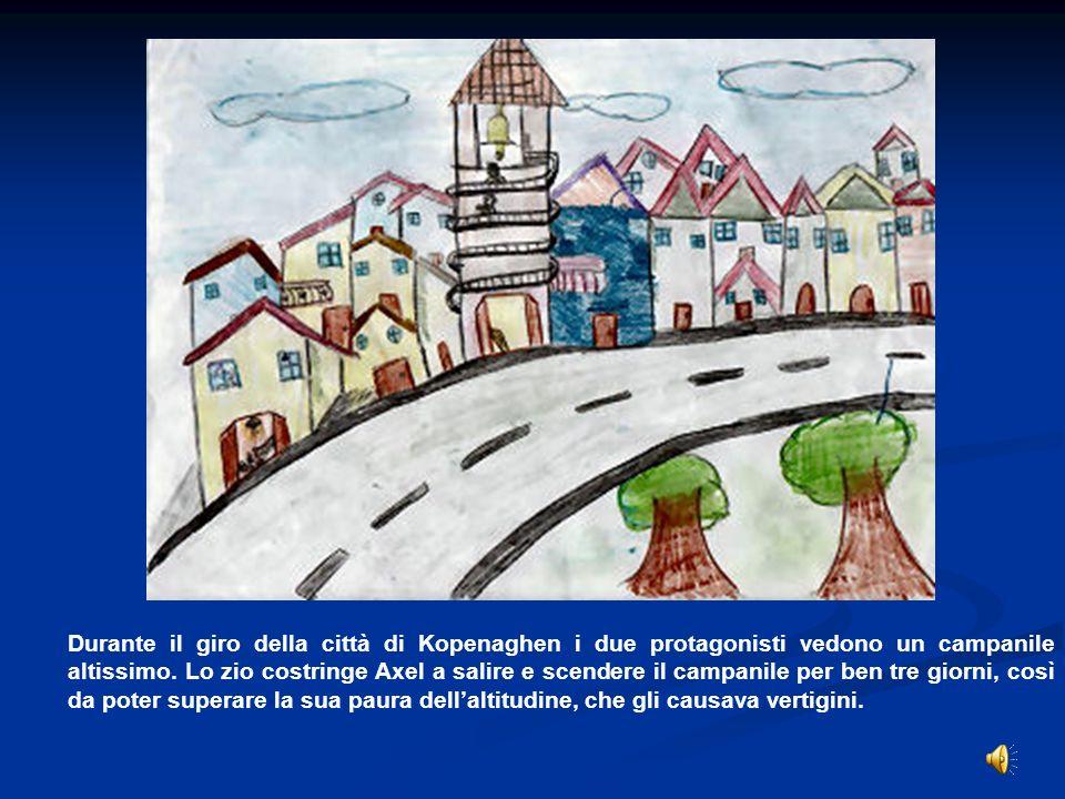 Durante il giro della città di Kopenaghen i due protagonisti vedono un campanile altissimo.