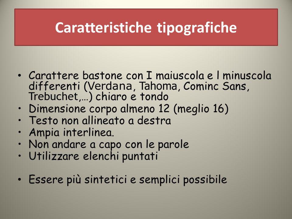 Caratteristiche tipografiche