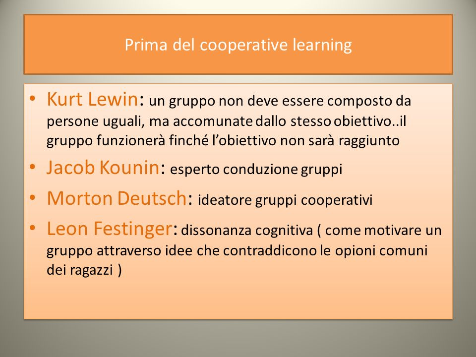 Prima del cooperative learning