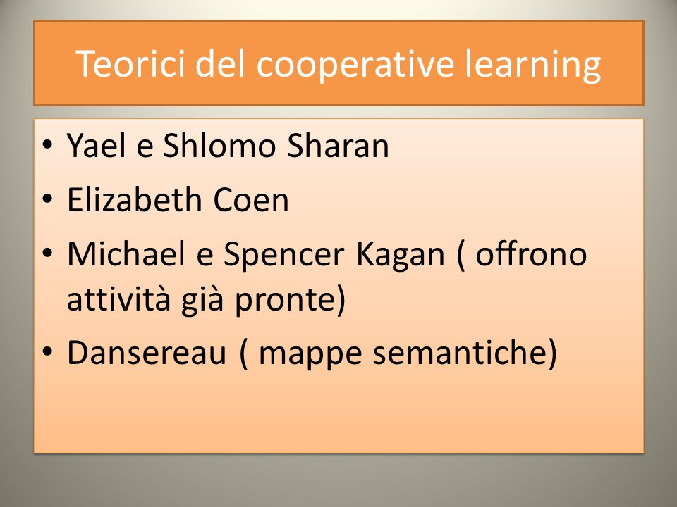 Teorici del cooperative learning