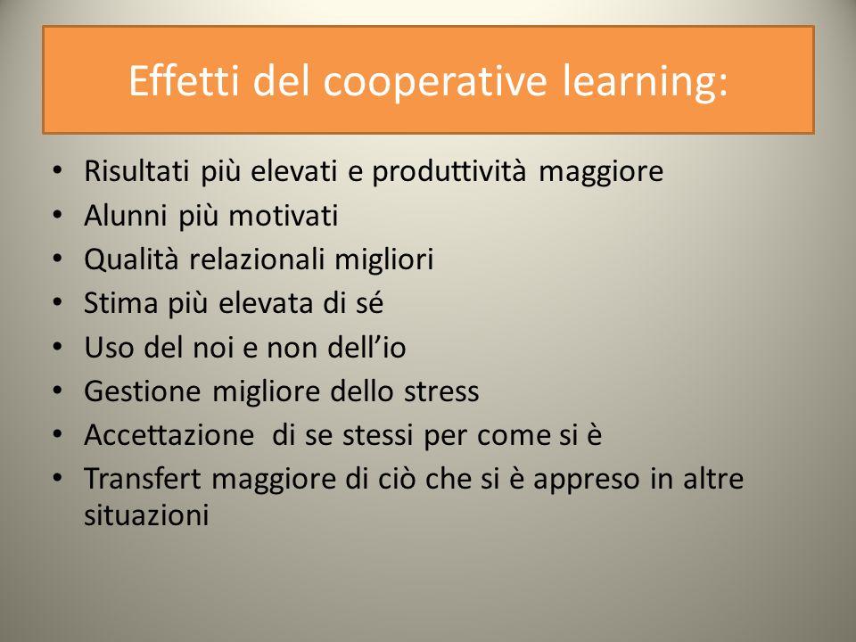 Effetti del cooperative learning: