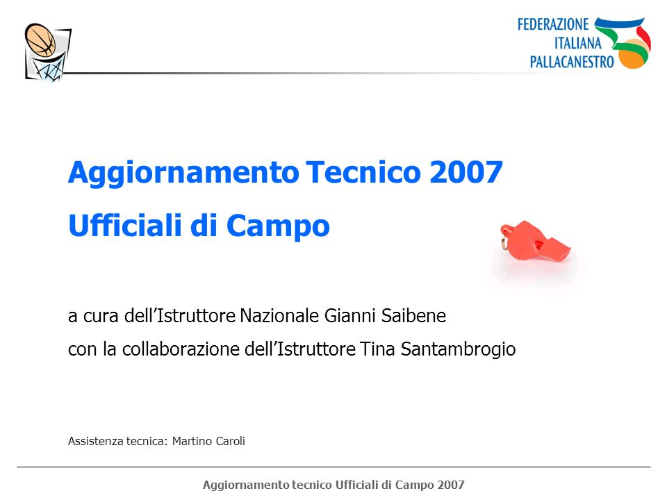 Aggiornamento tecnico Ufficiali di Campo 2007