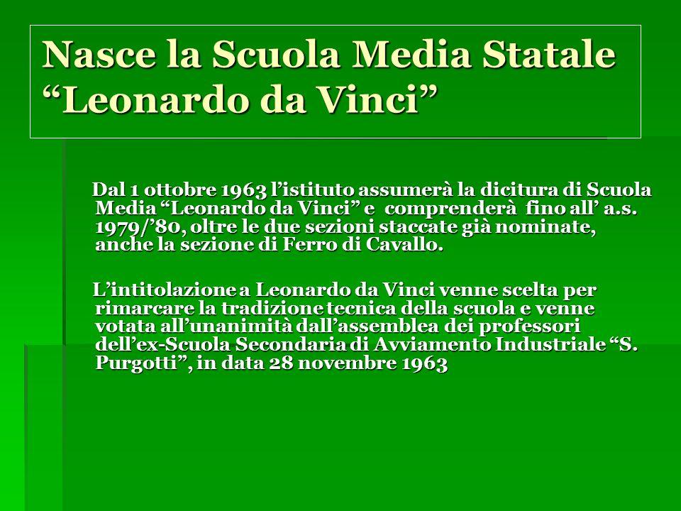Nasce la Scuola Media Statale Leonardo da Vinci