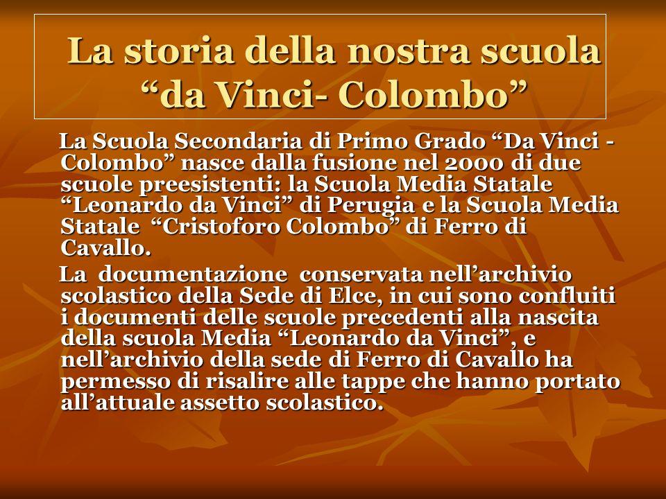 La storia della nostra scuola da Vinci- Colombo