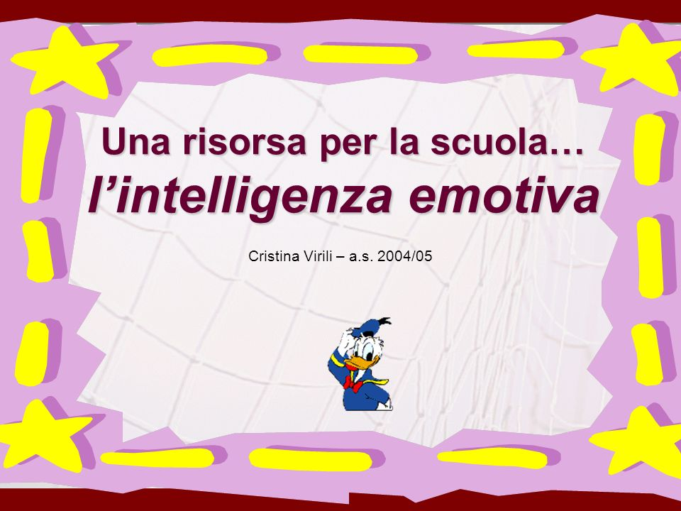 Una risorsa per la scuola… l'intelligenza emotiva