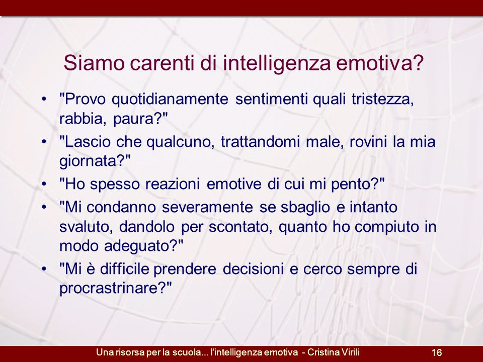 Siamo carenti di intelligenza emotiva