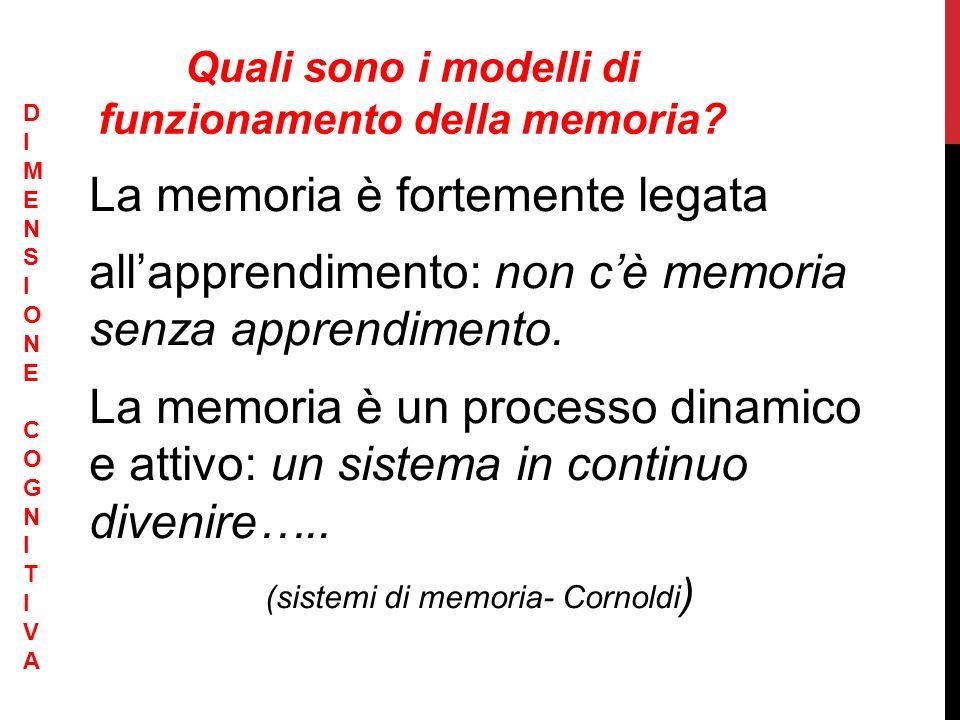 Quali sono i modelli di funzionamento della memoria