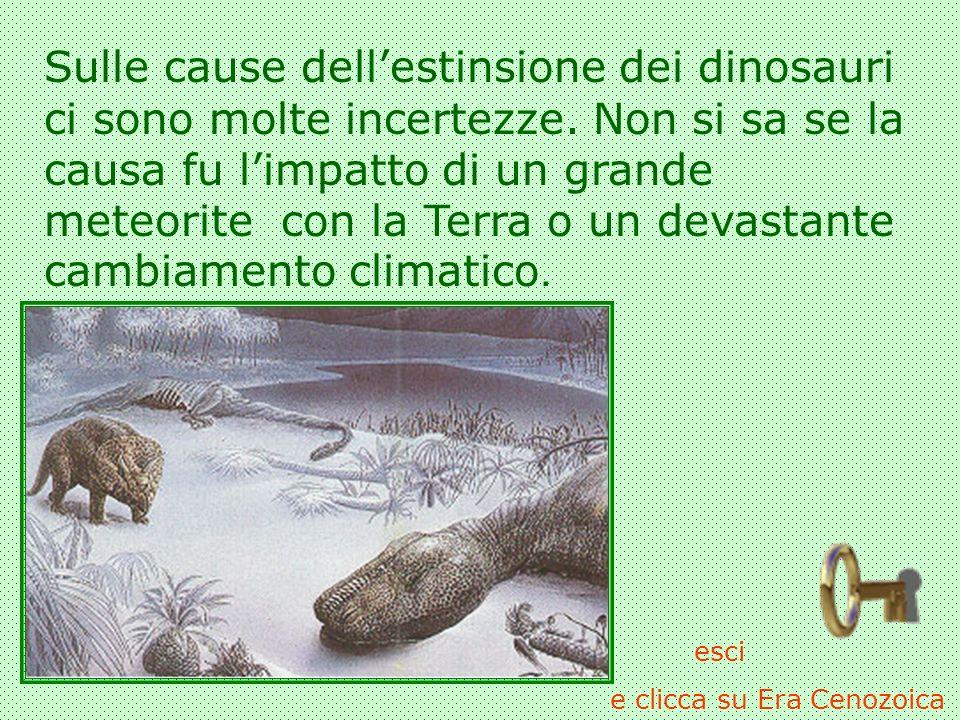 Sulle cause dell'estinsione dei dinosauri ci sono molte incertezze