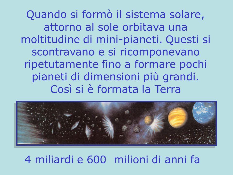 4 miliardi e 600 milioni di anni fa