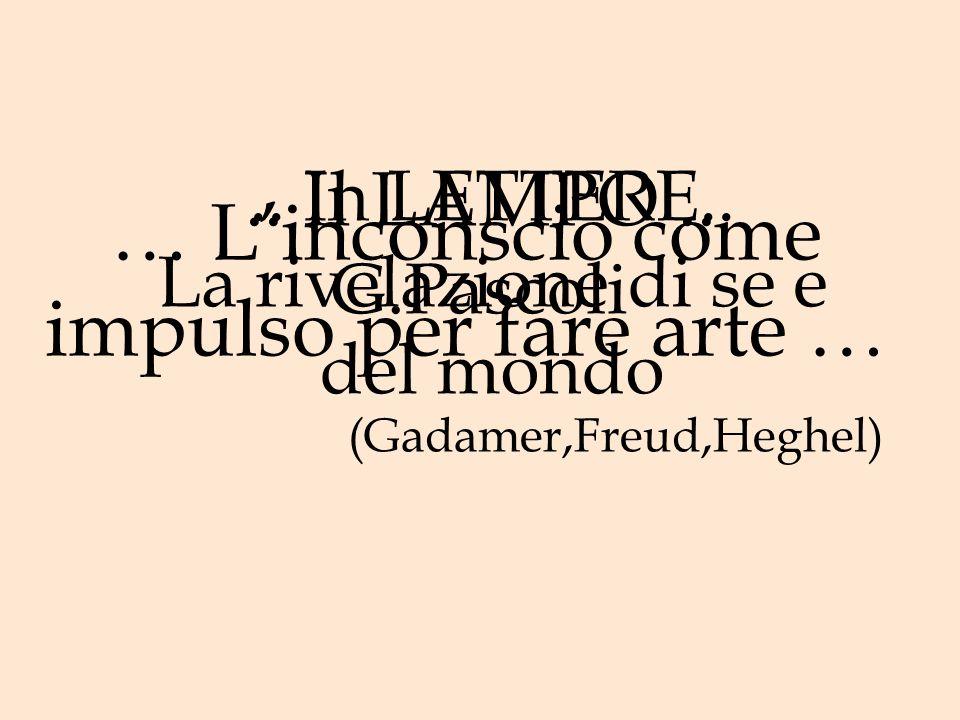 … L'inconscio come impulso per fare arte … (Gadamer,Freud,Heghel)