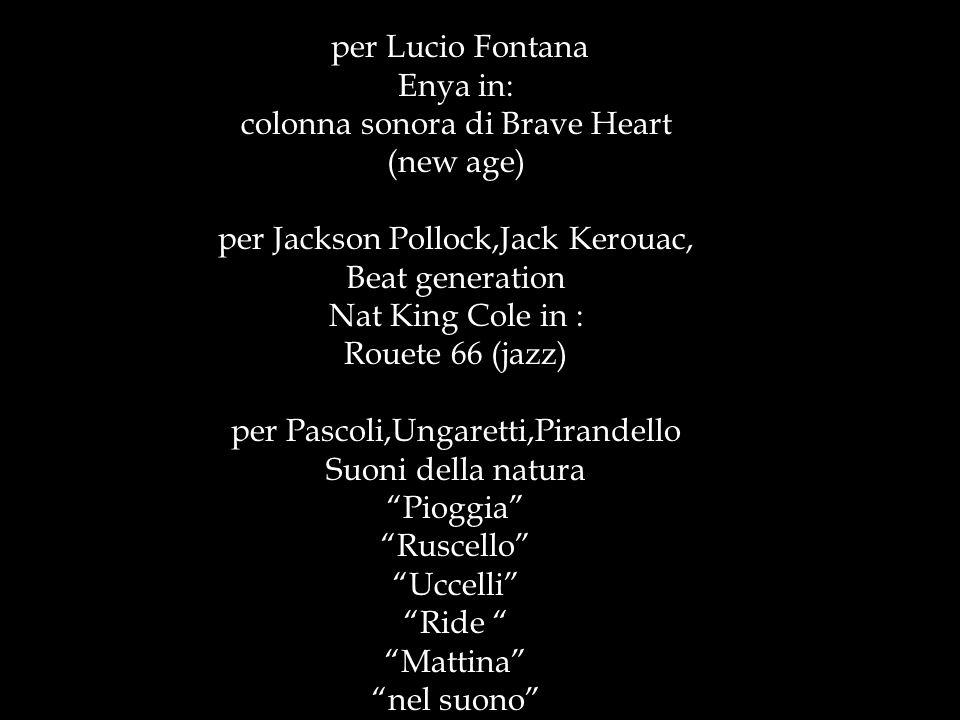 Musica: Presentazione a cura di Tornatore Chantal per Lucio Fontana