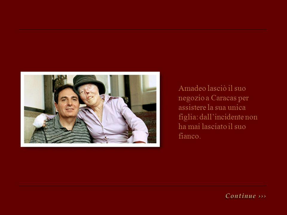Amadeo lasciò il suo negozio a Caracas per assistere la sua unica figlia: dall'incidente non ha mai lasciato il suo fianco.