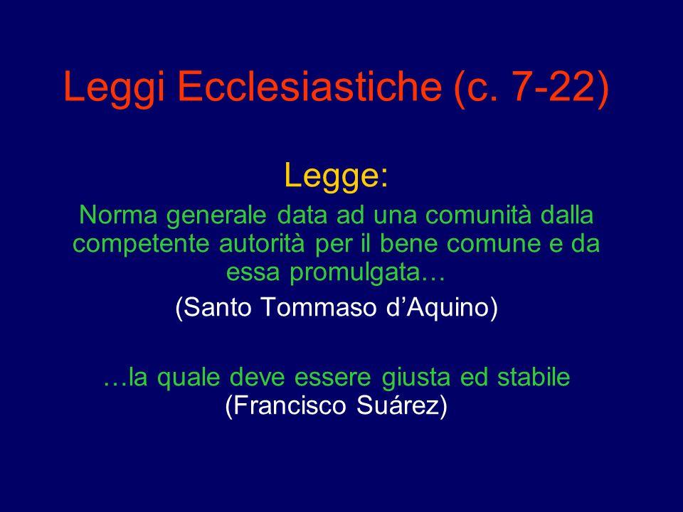 Leggi Ecclesiastiche (c. 7-22)