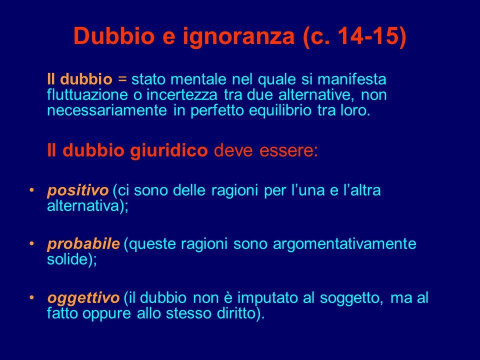 Dubbio e ignoranza (c. 14-15)